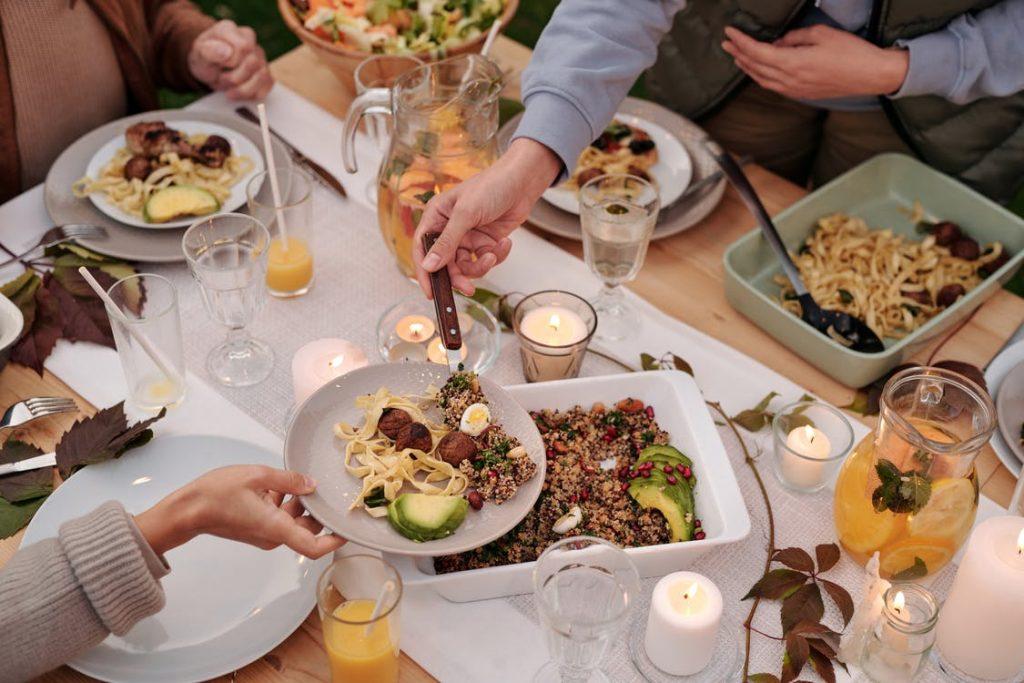 Lækker middag med venner